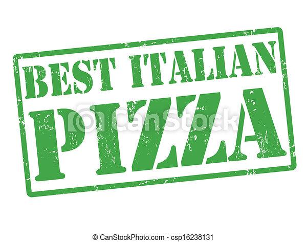 Best Italian Pizza stamp - csp16238131