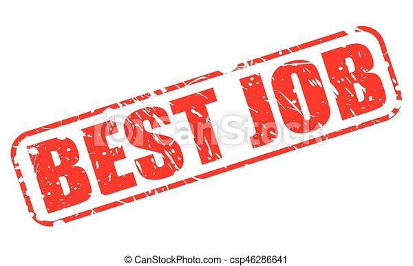 BEST JOB red stamp text - csp46286641