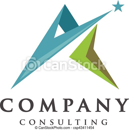 best letter a logo with star concept letter a strong and creative rh canstockphoto com Strong Man Clip Art Strong Man Clip Art