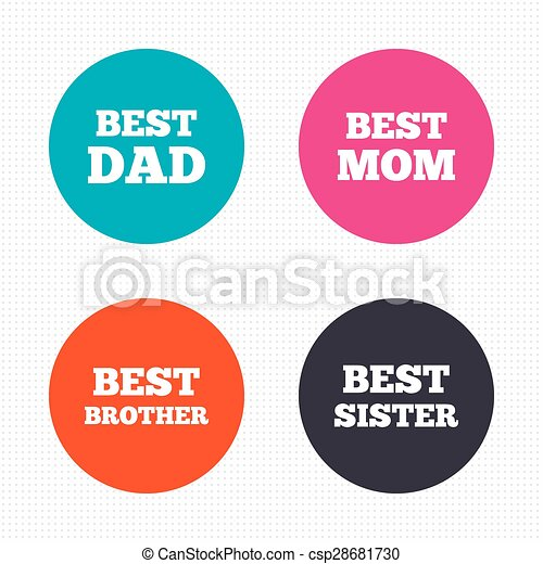 Best Mom And Dad Brother Sister Icons Circle Buttons Best Mom