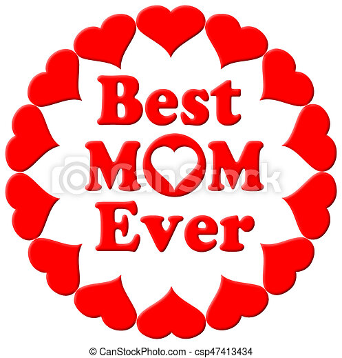 46ddb1e662 Best mum ever hearts. Happy mothers day typographical illustration ...