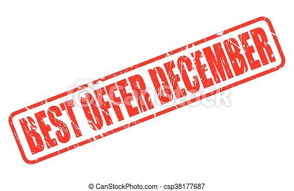 BEST OFFER DECEMBER RED STAMP TEXT - csp38177687