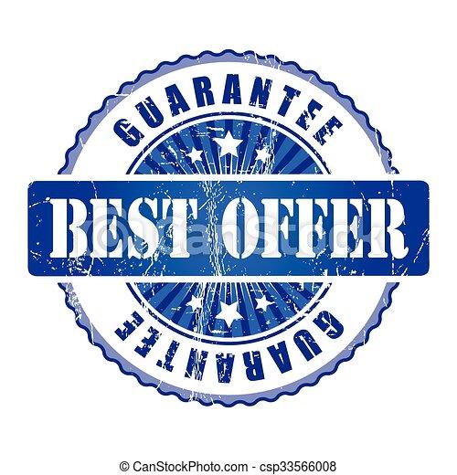 Best Offer  Guarantee Stamp.  - csp33566008
