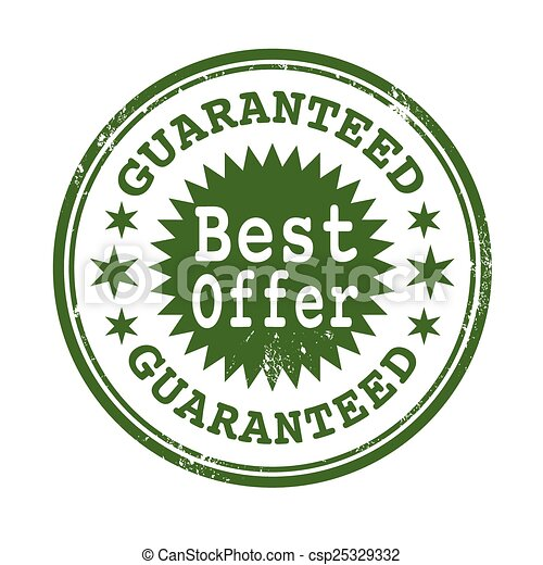 best offer guaranteed stamp - csp25329332