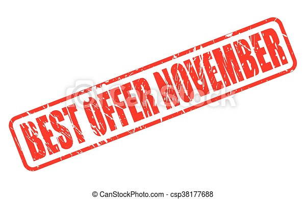 BEST OFFER NOVEMBER RED STAMP TEXT - csp38177688