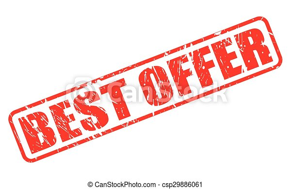 Best Offer red stamp text - csp29886061