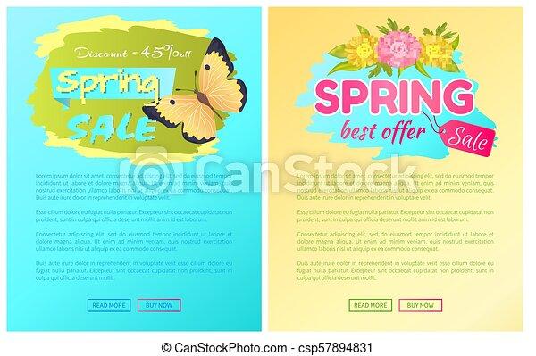 Best Offer Spring Sale Advertisement Daisy Flowers - csp57894831