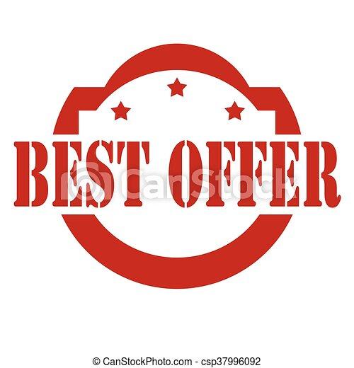 Best offer-stamp - csp37996092