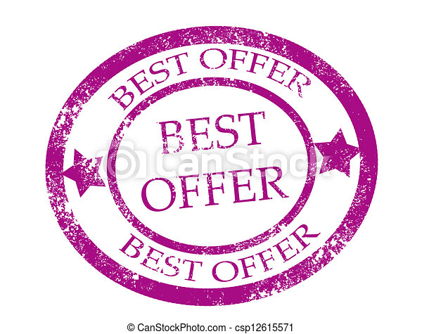 Best offer stamp - csp12615571