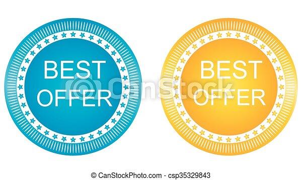 Best Offer Vector Icon Design - csp35329843