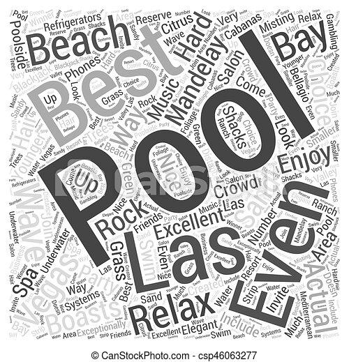Best Pools in Las Vegas Word Cloud Concept