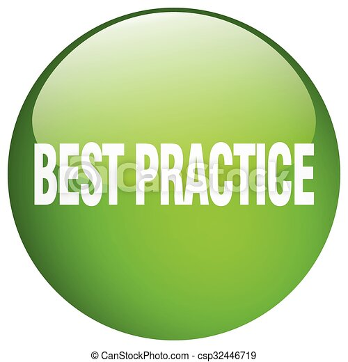 best practice green round gel isolated push button - csp32446719