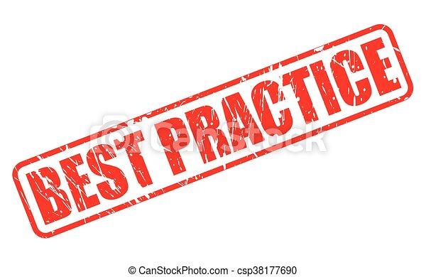 BEST PRACTICE RED STAMP TEXT - csp38177690