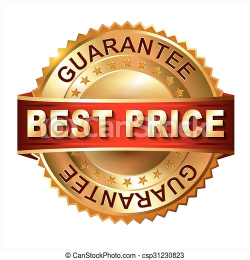 Best Price golden label with ribbon - csp31230823