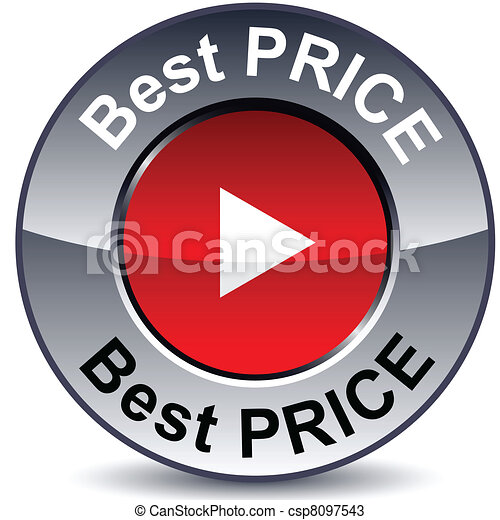 Best price round button. - csp8097543