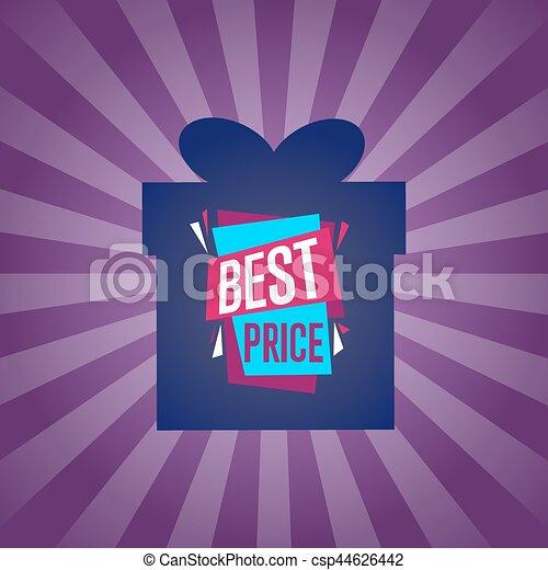 Best price sticker on box silhouette - csp44626442
