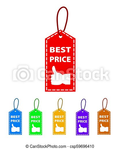 Best price tag , isolated on white background, stock vector illustration - csp59696410