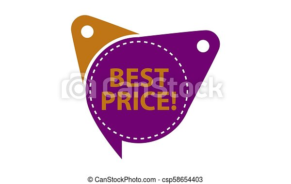 Best Price Tag Template Isolated - csp58654403