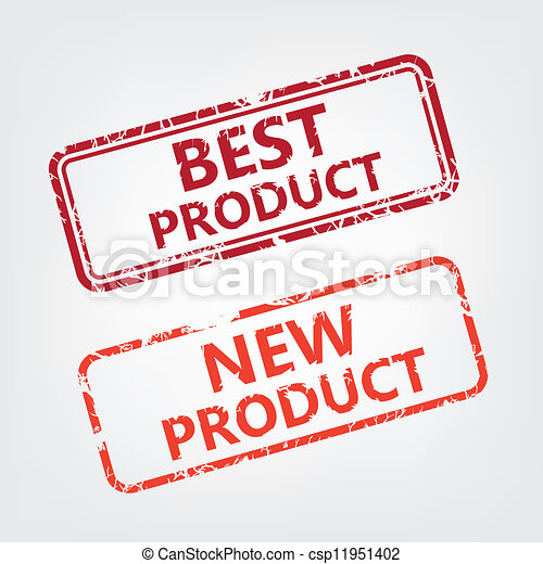 Best product and New product rubber stamp - csp11951402