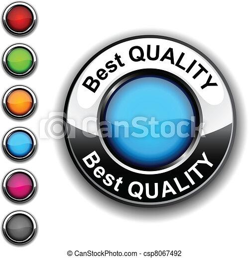 Best quality button. - csp8067492