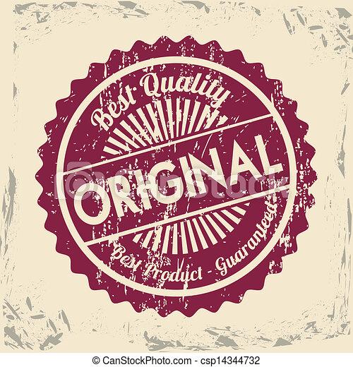 best quality seal over vintage background vector illustration