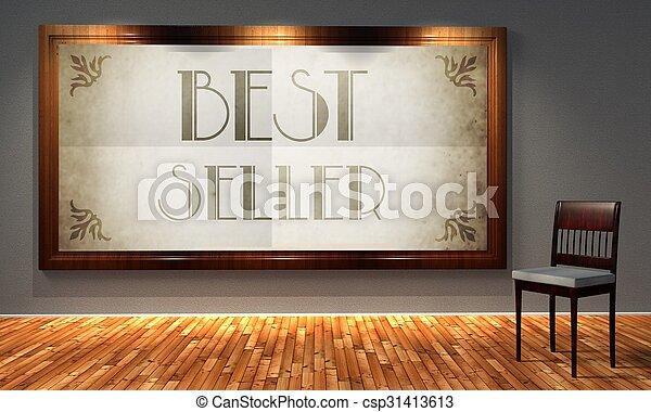 Best seller vintage advertising, retro interior - csp31413613
