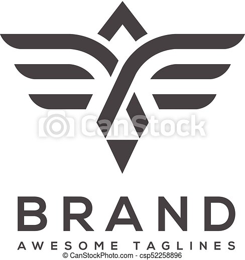 best simple vector wings logo winged logo company and icon wing
