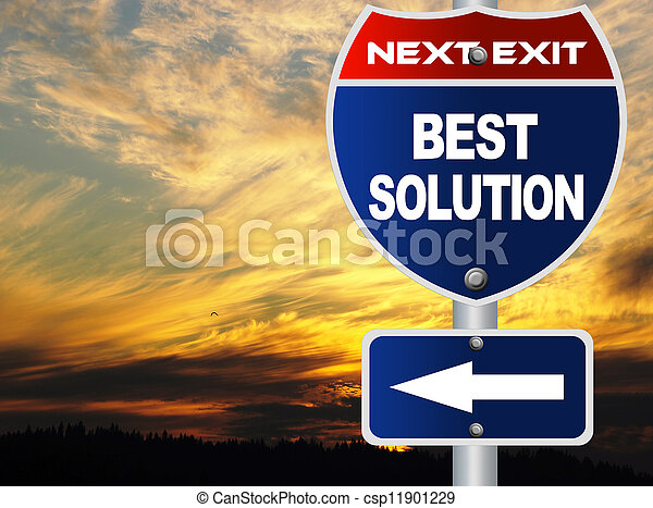 Best solution road sign - csp11901229