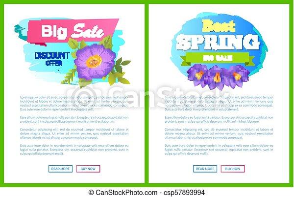 Best Spring Big Sale Advertisement Label Crocus - csp57893994