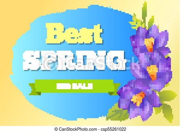 Best Spring Big Sale Advertisement Label Crocus - csp55261022