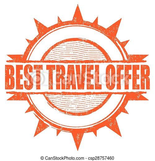 Best travel offer stamp - csp28757460