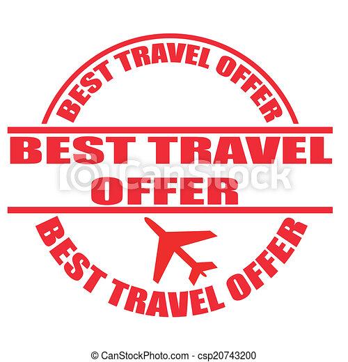 best travel offer stamp - csp20743200