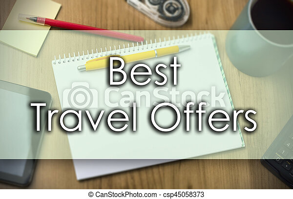 Best Travel Offers -  business concept with text - csp45058373