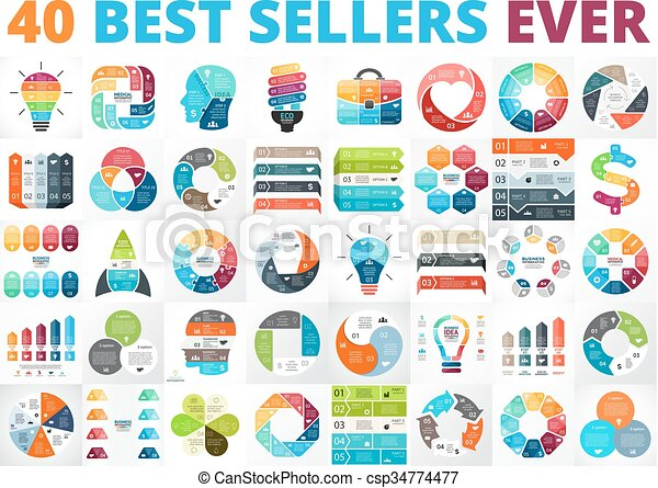 best vector circle infographics set business diagrams arrows rh canstockphoto com Graphics for Business Presentations Shooting Star Clip Art Free