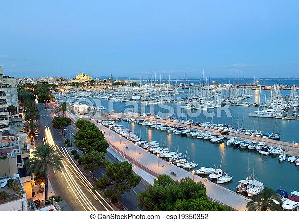 Best view of Palma de Mallorca - csp19350352