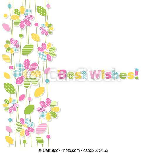 Best wishes flowery greeting card illustration of colorful best wishes flowery greeting card csp22673053 m4hsunfo