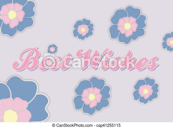 Best wishes greeting card with flowers vector clip art search best wishes greeting card with flowers csp41255115 m4hsunfo