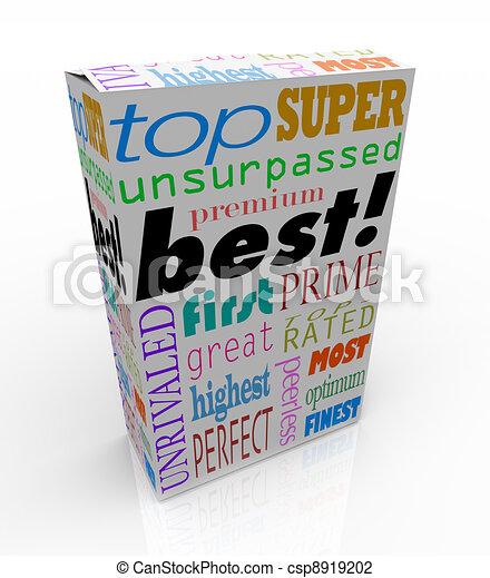 Best Words on Product Box Top Premium Buy - csp8919202