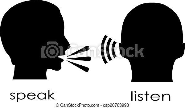beszél, hallgat - csp20763993