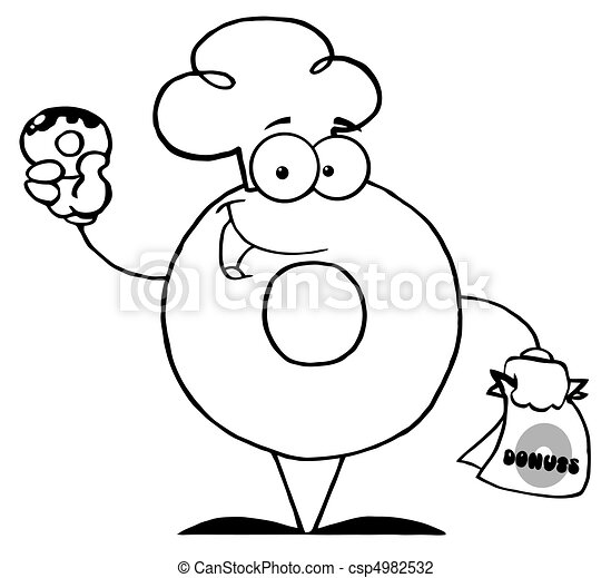betű, karikatúra, birtok, fánk - csp4982532