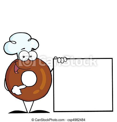 betű, karikatúra, fánk - csp4982484