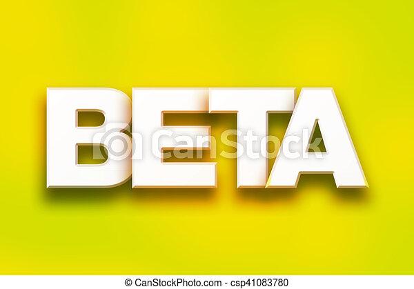 Beta Concept Colorful Word Art - csp41083780