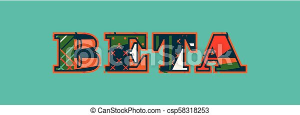 Beta Concept Word Art Illustration - csp58318253