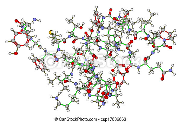 Beta-endorphin molecular structure - csp17806863