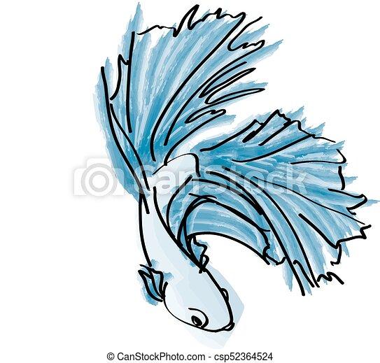 Beta Fish - csp52364524