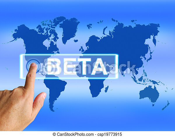 Beta Map Refers to an Internet Trial or Demo Version - csp19773915