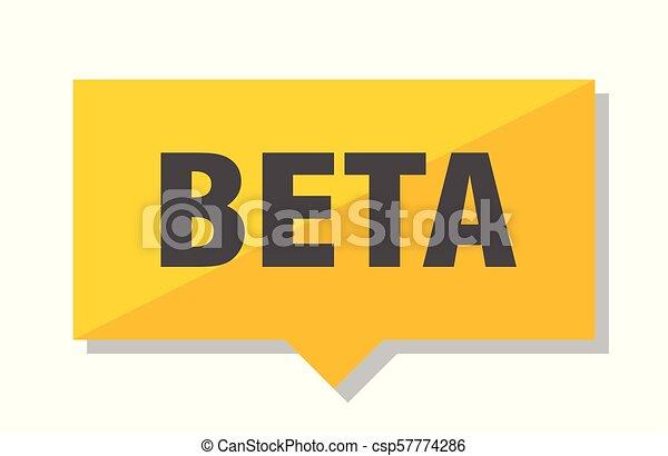 beta price tag - csp57774286