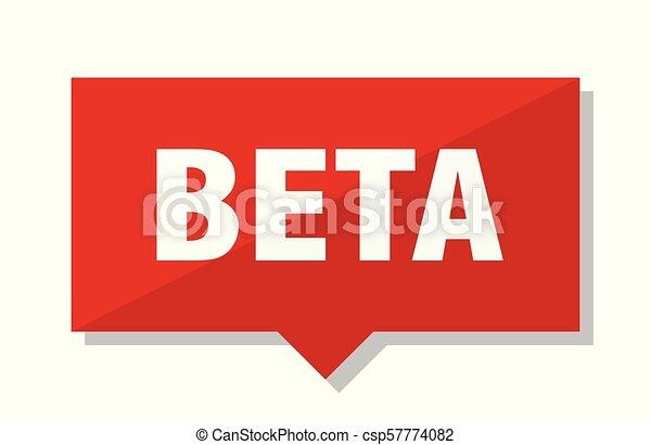 beta red tag - csp57774082