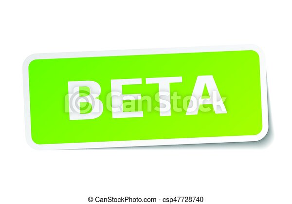beta square sticker on white - csp47728740