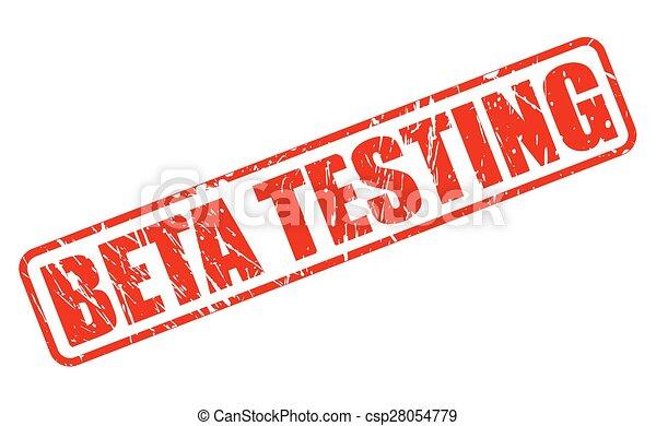 Beta testing red stamp text - csp28054779